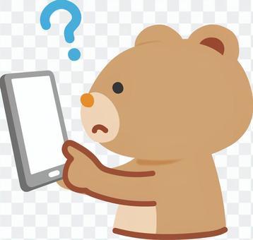 熊擔心智能手機操作