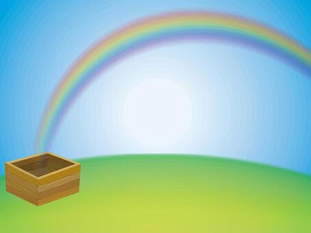Rainbow from wooden box