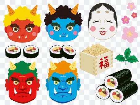 Setsubun set (mask etc)
