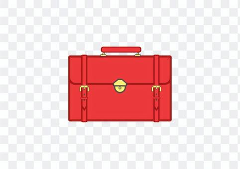 Leather bag 1 (red)