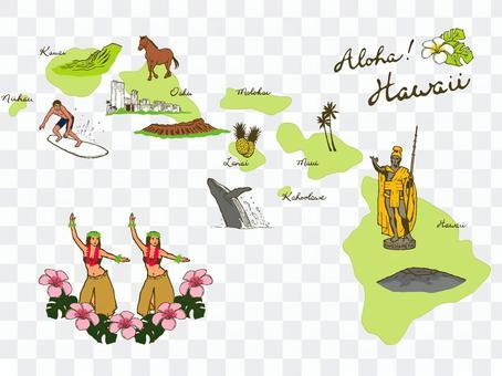 插圖地圖(夏威夷 1)
