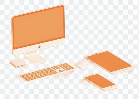 台式電腦外圍設備橙色