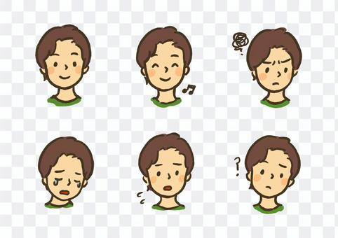 Facial expression set expressing feelings ① No characters ver.