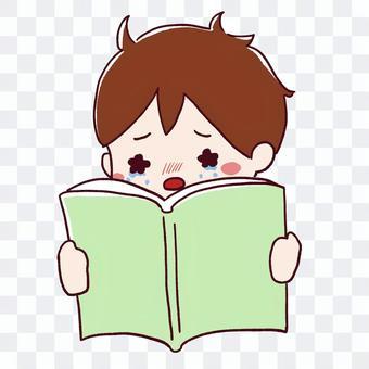 一個男孩被一本書打動
