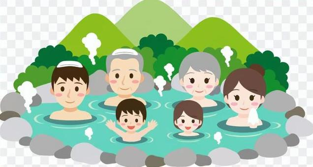 Hot spring summer with family
