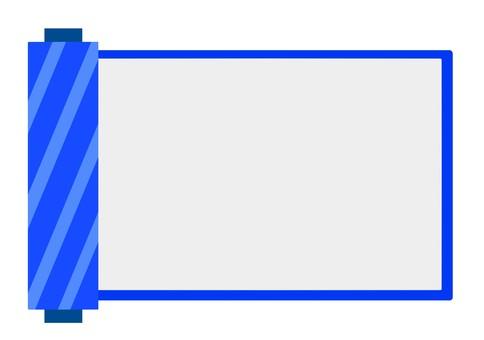 Blue roll frame