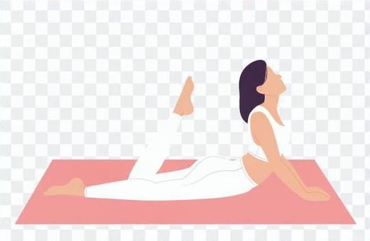 用兩隻手在地板上擺姿勢的女人