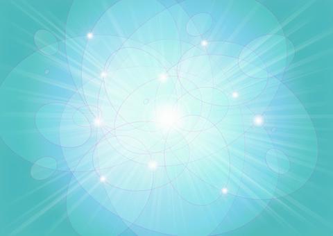 橢圓形的圓球和光線 - 淡藍色