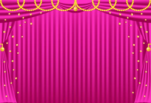 海豚,粉紅色和金色(帶背景)