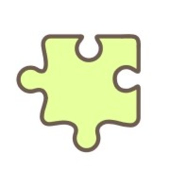 Puzzle piece play life yellow green