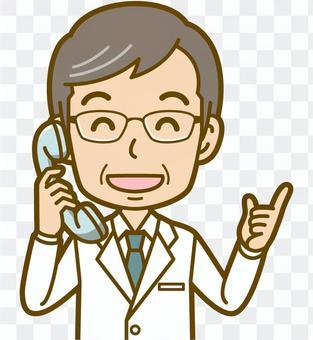 男性(医者):B_電話03BS