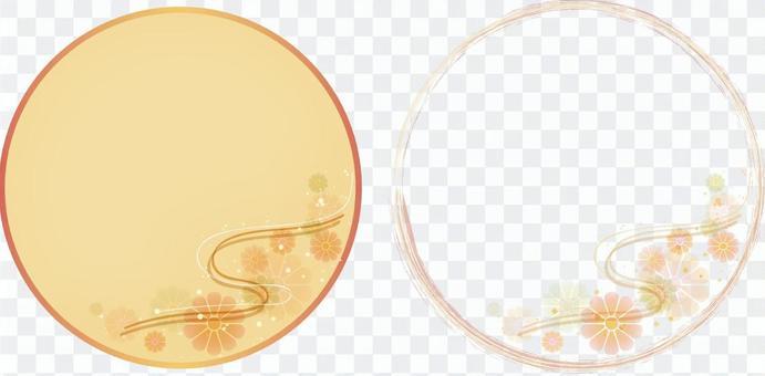 Kikusui background circular banner