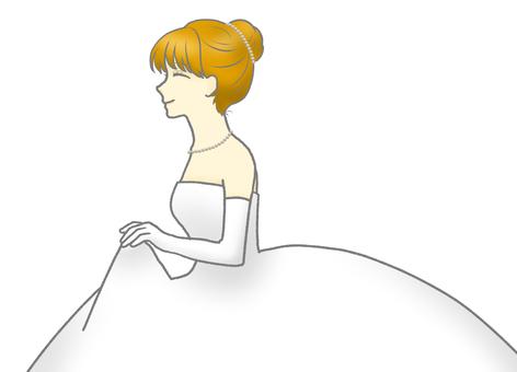 一個戴珍珠飾品的女人的陰影插圖