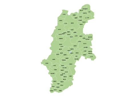 長野縣地圖和市鎮名稱