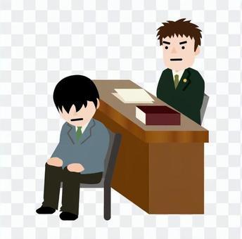 男律師和被告的男人