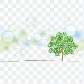 綠樹和新鮮的背景