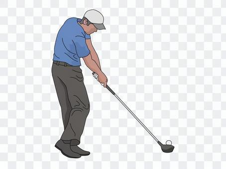 Golfer 3 (Driver shot)