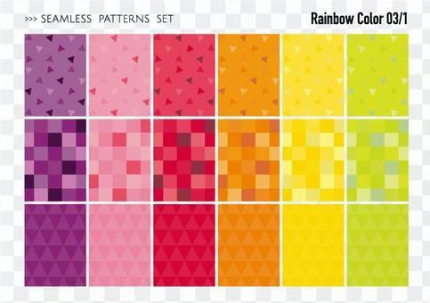 Seamless pattern set / warm color 03