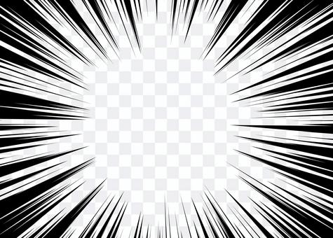 放射状 集中線2