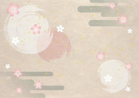 New Year _ sakura _ Japanese paper _ background
