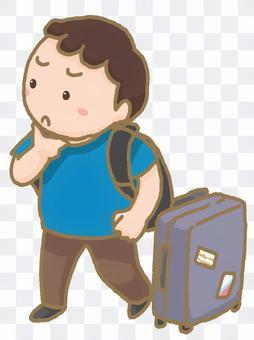 海外旅行客  男性