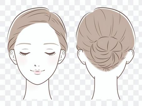 女性的臉(閉著眼睛回集)