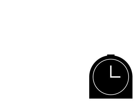 Simple table clock icon: Black: No scale