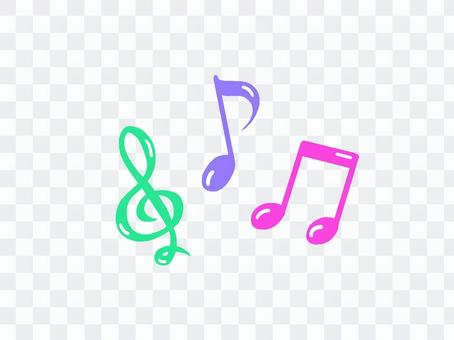 Musical note (colorful)