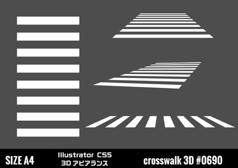 Road markings Pedestrian crossing 3D appearance