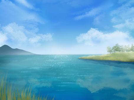 湖濱背景圖