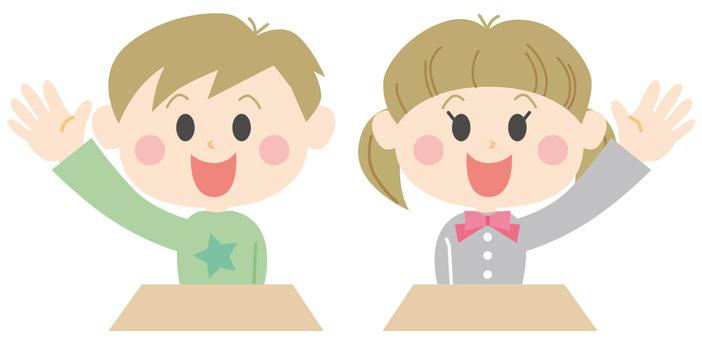 小學生在課堂上