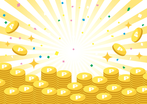 一堆金幣(黃色背景)
