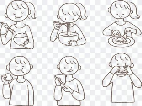 Men and women who eat various tea