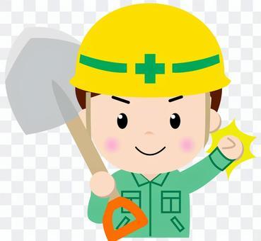 Construction worker _ upper body (scoop)