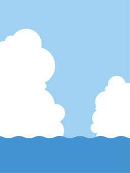 Sea and sky and clouds 3