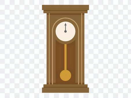 Illustration of a big pendulum clock