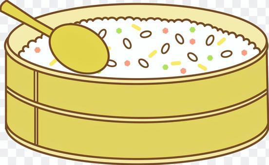 在壽司缸中的Chirashizushi