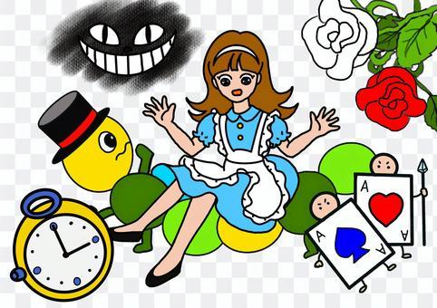 故事插圖《愛麗絲夢遊仙境》
