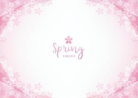 Spring background frame 022 Cherry transparent feeling