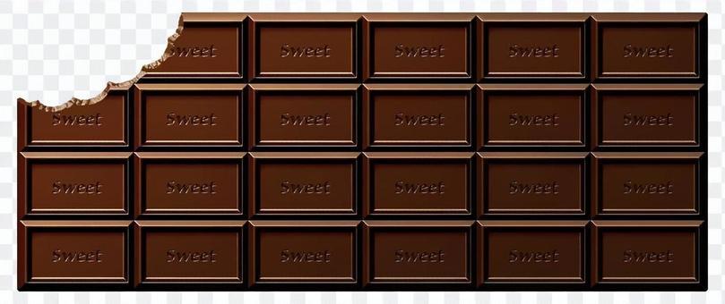 咬板巧克力