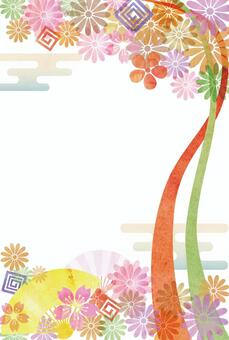 Watercolor style Japanese pattern