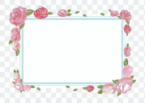 玫瑰_相框_水彩画B 1