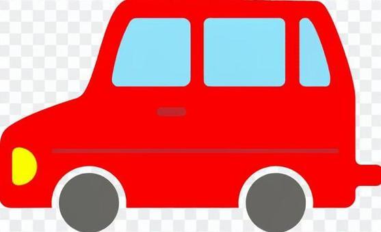 B車側身紅