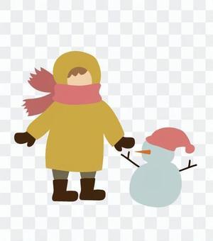 雪人和孩子們