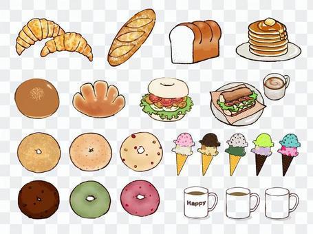 麵包,咖啡廳的材料