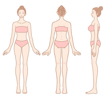 Women's whole body set (forehead out)