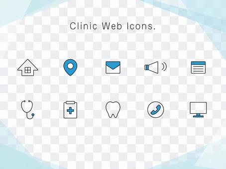 Icon set for medical homepage