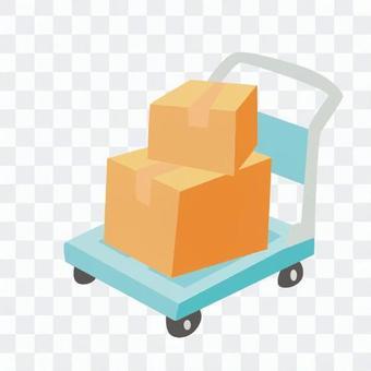 引っ越し-荷物を積んだ台車