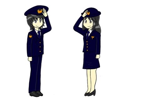 Salute policeman