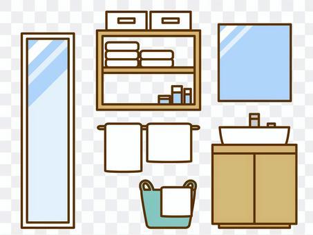 家具(洗脸盆,镜子,洗衣篮,存储)